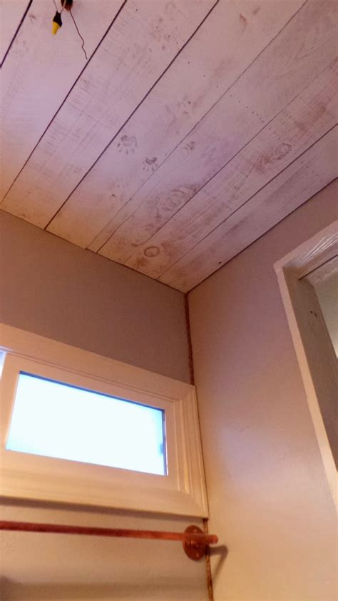 Wood Plank Ceiling White