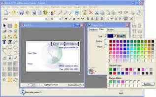 create a business card free filegets klick n view business cards screenshot create