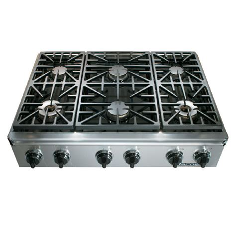6 Burner Cooktop Shop Dacor Discovery 6 Burner Gas Cooktop Stainless Steel