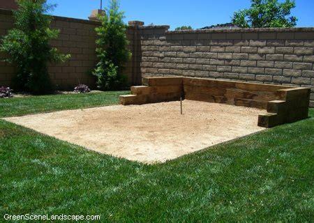 backyard horseshoe pit dimensions horseshoes backyard games landscaping network