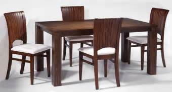 Image of modern frosted glass contemporary wooden dining room set