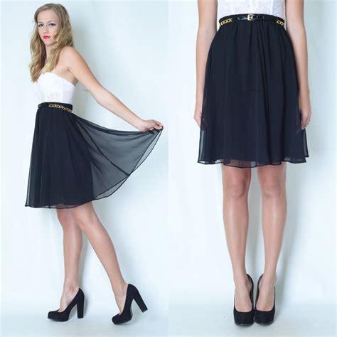 vintage 80s 90s black sheer mini dress skirt high waist