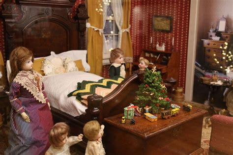studio b miniatures vignettes christmas room 1 a holiday fantasy the ann wyeth mccoy doll collection
