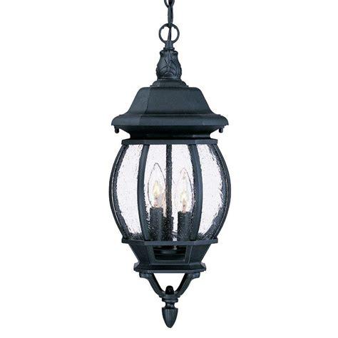 Black Hanging Light Fixture Acclaim Lighting Chateau Collection 3 Light Matte Black Outdoor Hanging Lantern Light Fixture