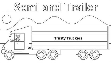 semi truck and trailer coloring page semi truck and