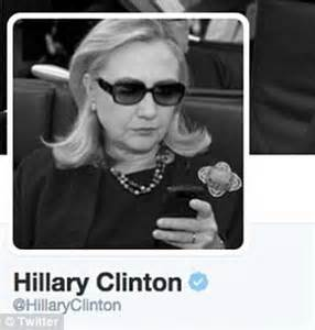 Hillary Clinton Sunglasses Meme - hilary clinton removes twitter photo of her typing on