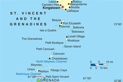 st vincent grenadines map island hopping in the grenadines