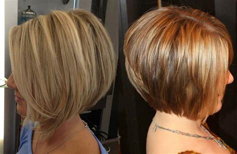 Interior Layers Hairstyle by Layered Stacked Bob Haircut Hairstyles Ideas