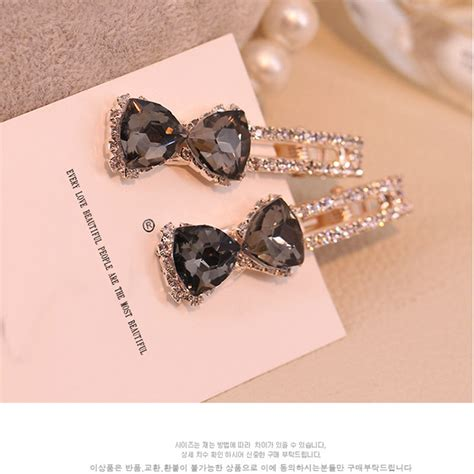 Parfum Korean Hair Clip korean hair accessories hairpins rhinestone acrylic gem barrettes hair for