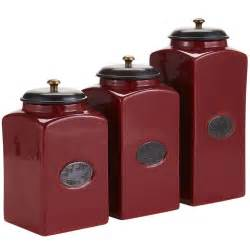 red ceramic canisters ideas for new apt pinterest