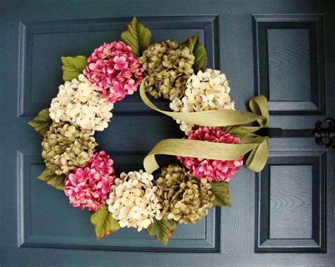 summer wreaths hydrangea wreath front door wreaths