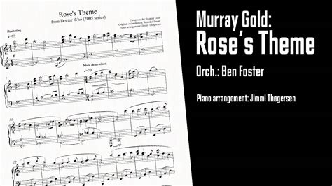 rose theme on piano murray gold rose s theme from doctor who piano
