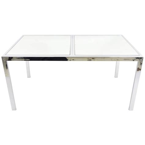 mirrored dining table dia mirrored dining table or desk for sale at 1stdibs