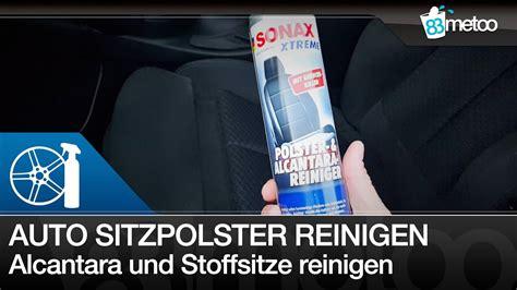 Auto Sitzpolster Reinigen auto sitzpolster alcantara und stoffsitze reinigen sonax
