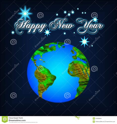 new year earth 2018 new year stock images image 34989864