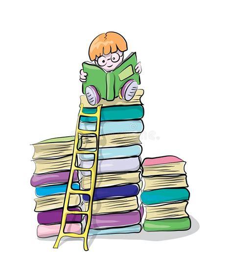 libri clipart libri di lettura dello studente illustrazione di stock