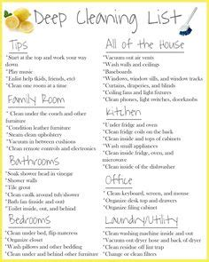 deep clean house professional house cleaning checklist cleaning