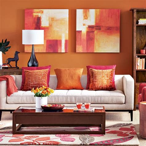 brown red and orange home decor modern orange living room decorating housetohome co uk