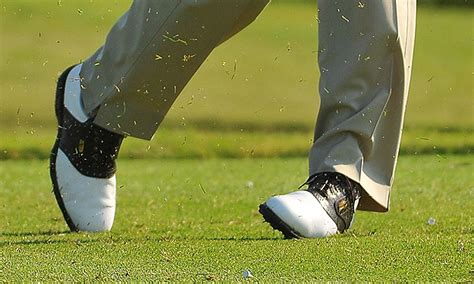 golf swing front foot 301 moved permanently