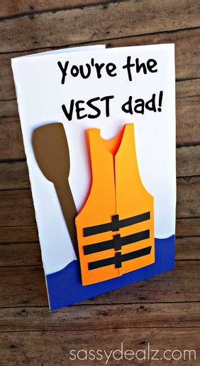 how to make a fathers day card quot you re the vest quot s day card idea crafty morning