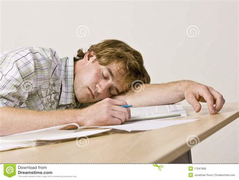Student Sleeping On Desk by Student Sleeping At Desk In Classroom Royalty Free Stock