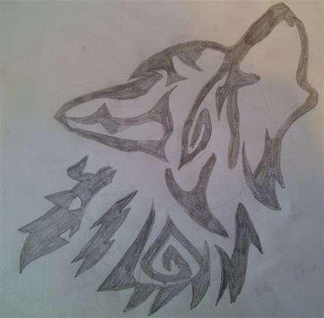 Simple Wolfis M wolf howling drawing booboo032 169 2018 aug 20 2012