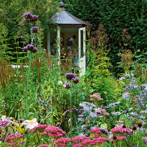 flower garden with outhouse country cottage garden tour
