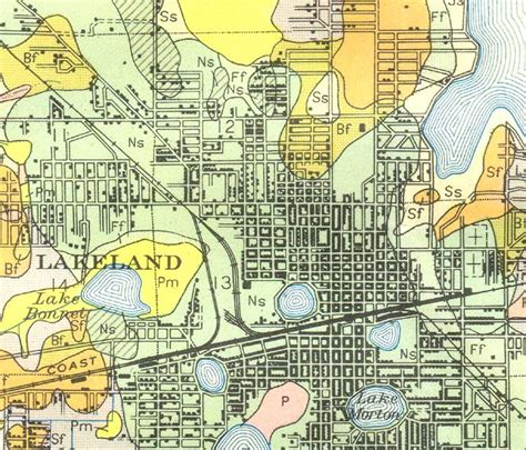 lakeland florida map map of lakeland 1927 florida
