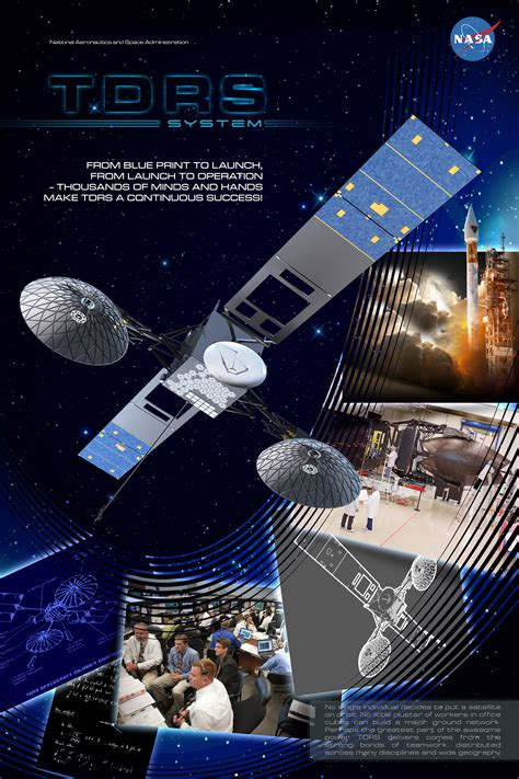 nasa design poster poster design for nasa s tracking and data relay satellite