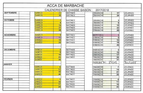 Calendrier Chasse Calendrier Chasse 2016 2017 Mairie De Marbache