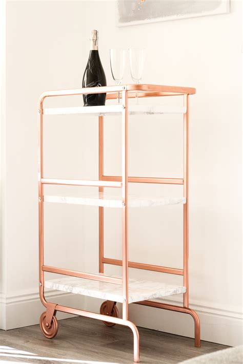sunnersta utility cart ikea sunnersta trolley diy hack bright copper and marble