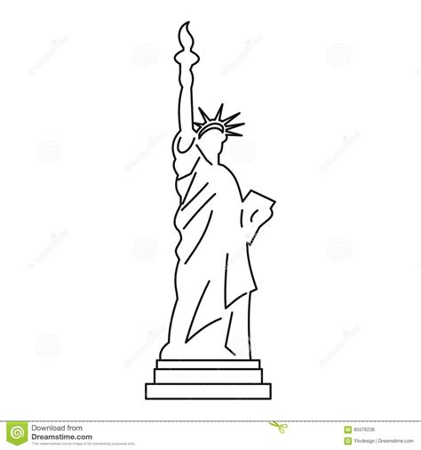 statue of liberty drawing template gallery of free statue of liberty drawing outline