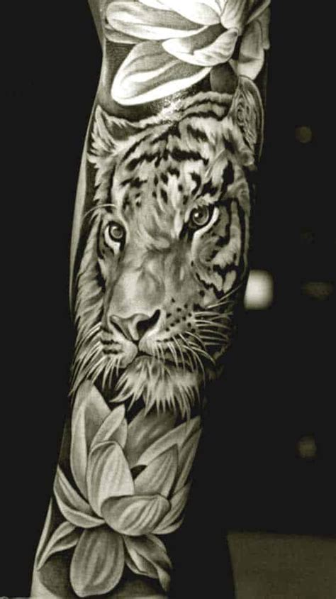 tiger with flowers tattoo designs 50 really amazing tiger tattoos for and