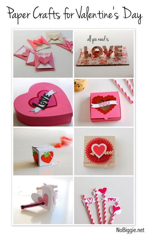 Valentines Day Paper Crafts - free ideas and crafts