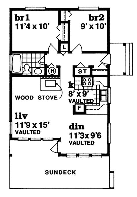 vacation cabin floor plans lake como vacation cabin home plan 062d 0326 house plans