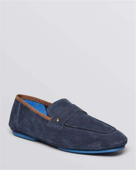 ted baker suede loafers ted baker smyyth suede loafers in blue for blue