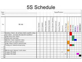 5s cleaning schedule template 5s cleaning schedule template related keywords 5s