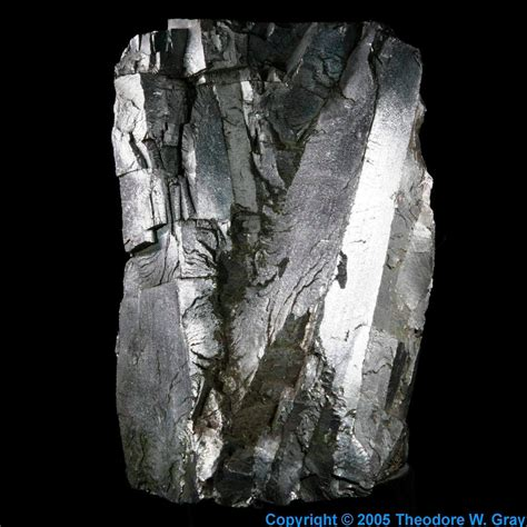 Pb Elemental huge ferrochrome crystal a sample of the element iron in
