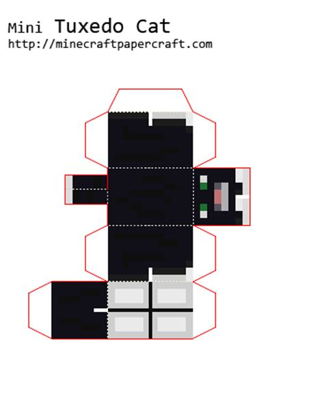 Minecraft Papercraft Cat - papercraft mini tuxedo cat
