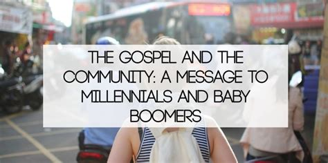 define social gospel the gospel and the community a message to millennials and