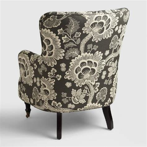 black and white reading chair black and white floral reading chair world market