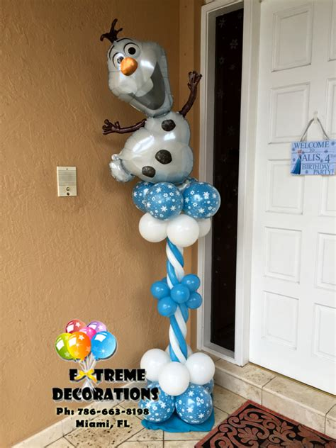 olaf decorations decorations miami frozen decorations balloons