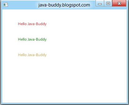 java buddy javafx exercise set text color using javafx