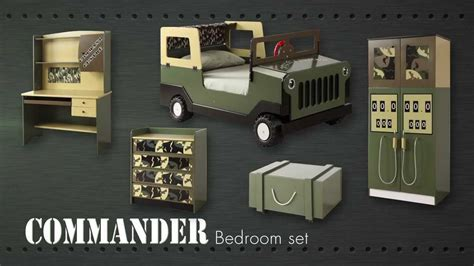 Camouflage Bedroom Set Army army commando theme bed bedroom furniture for kids