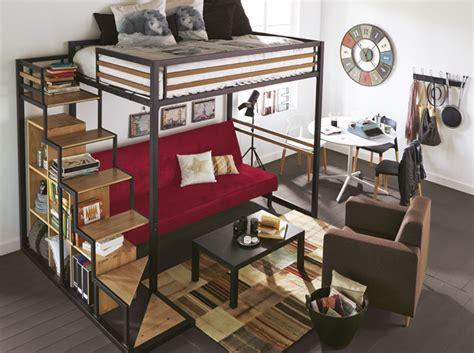 Mettre Un Lit Dans Un Studio by 10 Solutions Pour Am 233 Nager Le Dessous D Un Lit Mezzanine