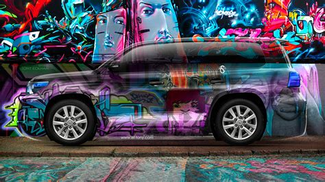 graffiti wallpaper car toyota land cruiser 200 jdm crystal graffiti car 2014 el