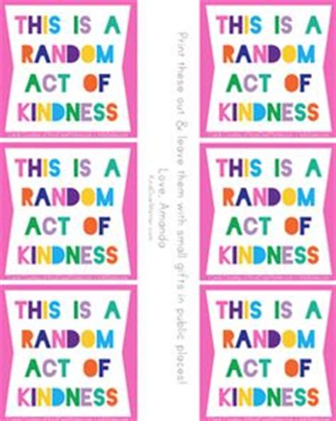 kindness card template random act of kindness bookmark template acts of