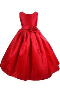 New red flower girl christmas wedding dress size toddler to 12 feature