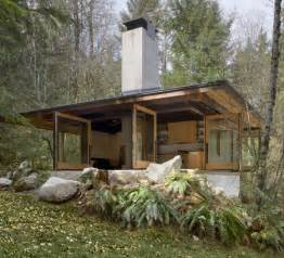 building a small cabin in the woods future in ruins small open plan concrete wood cabin