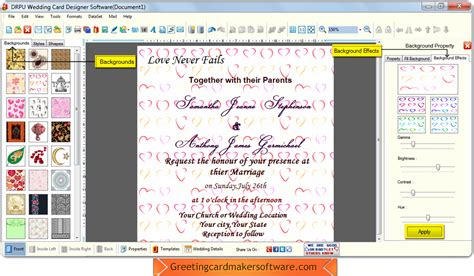 free wedding maker software wedding card maker software to make invitation cards to invite friends